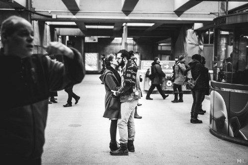 Romantic Photos Capture Candid Moments of Love Between Couples in Public