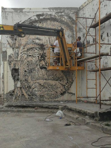 New Portraits Chiseled Out of Walls by Vhils