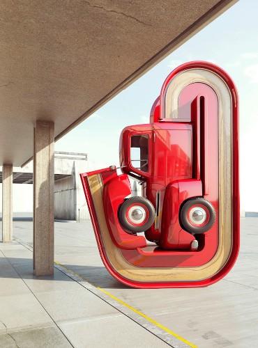 Pickup Trucks Digitally Manipulated to Look Like Pretzels
