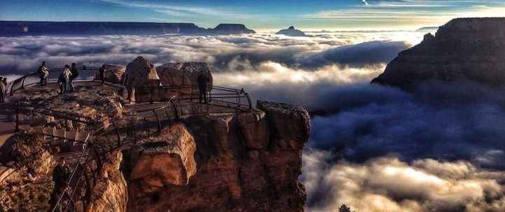 Rare Weather Phenomenon Fills Grand Canyon with Fog