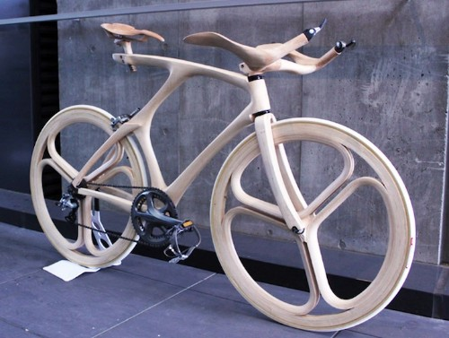 Incredible Sculpted Wooden Bicycle Blends Form and Function