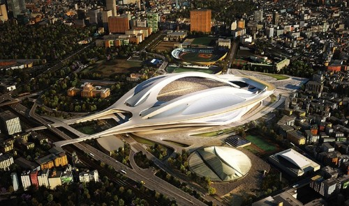 Zaha Hadid's Sleek New Sports Stadium in Tokyo