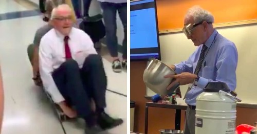 Viral Video of Physics Professor Shows the Lengths He Goes to to Make Science Fun