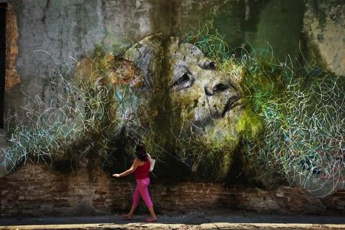 Enormous Street Art Portraits in Cuba