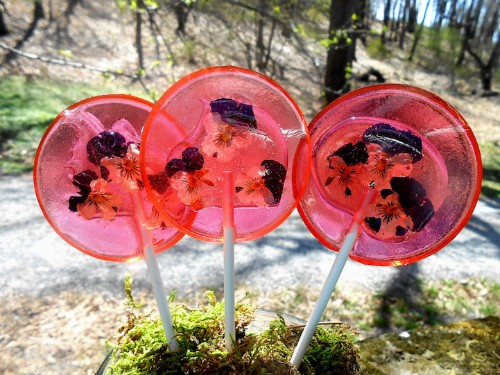 Edible Flower Petals Are Preserved in These Unique Lollipops