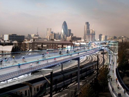 Proposed Bike System in London Will Offer Elevated Routes