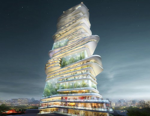 Endless Skyscraper Proposes a Vertical City in a Single Structure