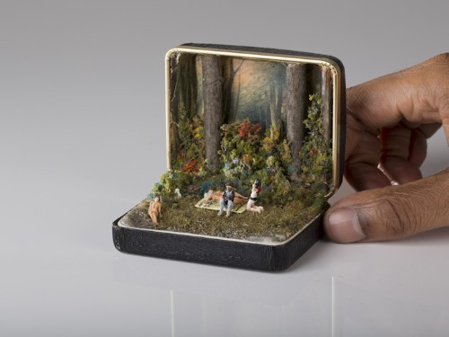 Spectacularly Detailed Dioramas Hidden Inside Vintage Ring Boxes