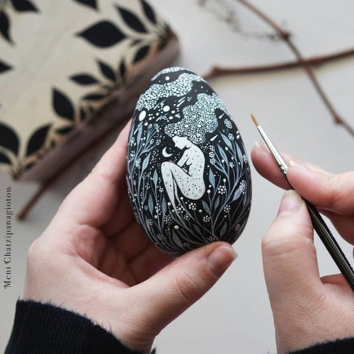 These Illustrated Wooden Eggs Are Like Brilliant Storybooks You Can Hold in Your Hand