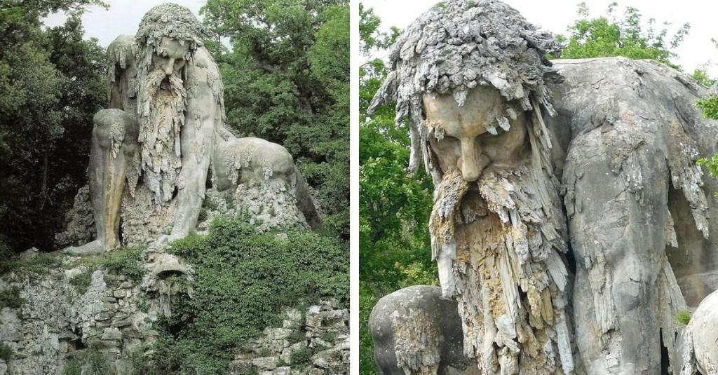 Este enorme coloso del siglo XVI resguarda un estanque en Florencia