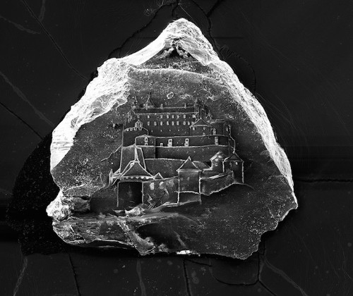 Amazing Minuscule Castles Etched on Single Grains of Sand