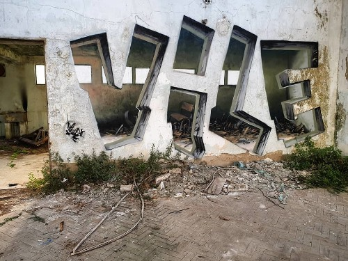 "Street Artist's Painted Illusions ""Carve"" Windows into Solid Concrete"