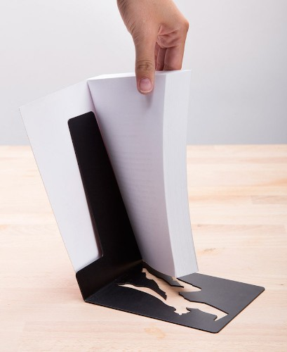 """Clever Superhero Bookends """"Save"""" Books from Falling"""