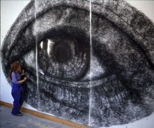 Surreal Wire Drawings of Eyes by Sophie Ryder