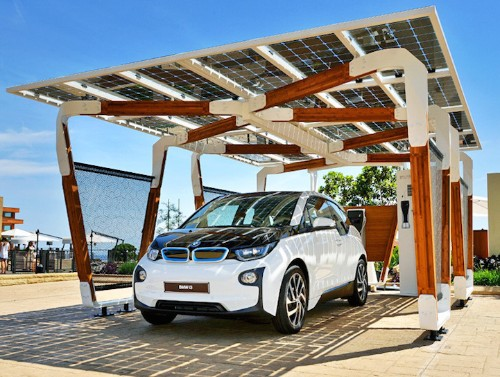 BMW Debuts Stunning Concept for a Solar-Powered Carport