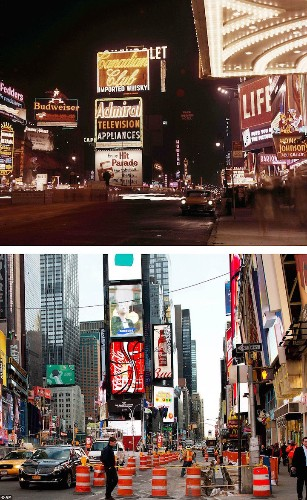 Then and Now: Striking Snapshots Show the Transformation of NYC Since the 1940s and '50s