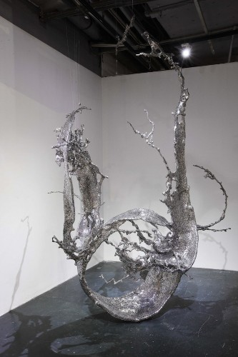 Steel Sculptures Made of More Than 20,000 Chinese Characters