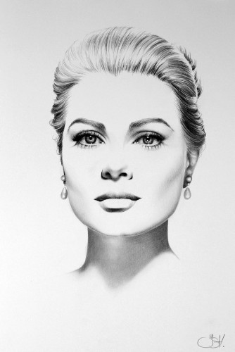 Classic Half-Erased Charcoal Drawings of Celebrities