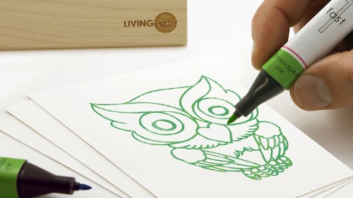 Pens Use Living Algae Ink to Create Time Lapse Drawings with Sunlight