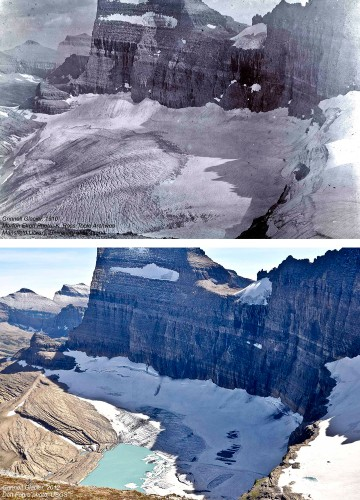 Before and After Photos Reveal How Much Glaciers Have Melted in 100 Years