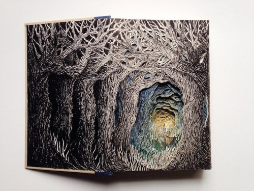 Beautiful 3D Illustrations Breathe New Life into Discarded Books