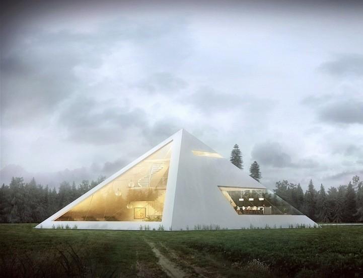 Modern Pyramid House by Juan Carlos Ramos