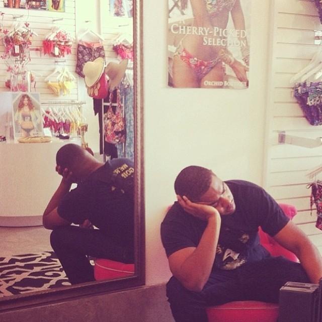 "Hilarious Photos of ""Miserable Men"" on Shopping Trips"