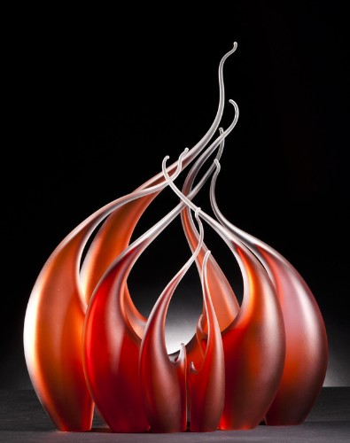 Dynamic Glass Sculptures of Water, Wind and Fire by Rick Eggert