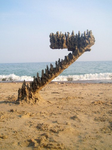 New and Otherworldly Forms of Sandcastles by Matthew Kaliner