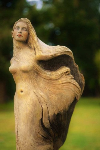 Fantastical Figures Emerge From Hand-Carved Pieces of Found Driftwood