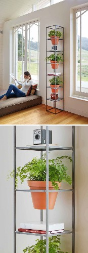 Simple Design Lets You Creatively Bring Nature Indoors with a Vertical Grid Garden