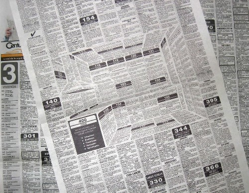 Clever Newspaper Ad Creates Optical Illusion of a 3D Kitchen