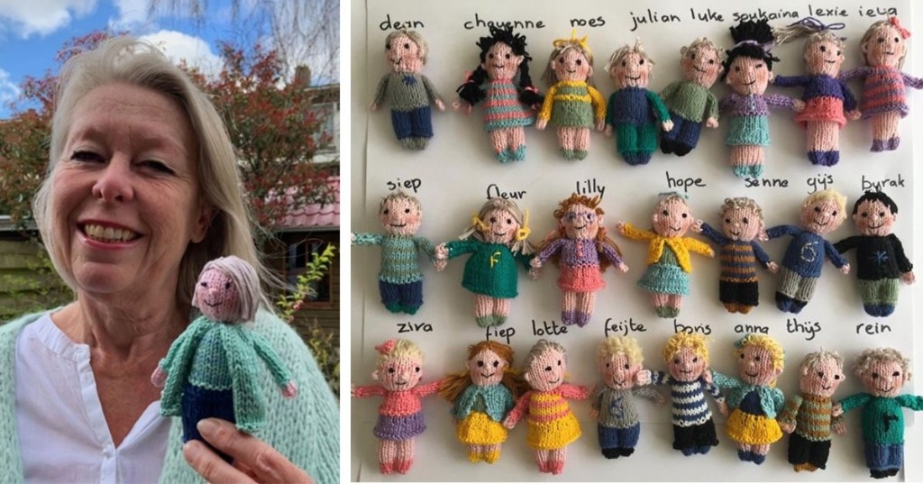 Teacher Missed Her Students So She Knit 23 Adorable Dolls to Represent Each of Them