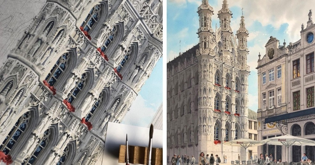 Traveling Artist Paints Exquisite Watercolors Immortalizing Europe's Old World Architecture