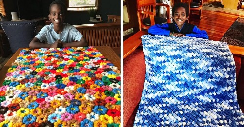 This 11-Year-Old Boy Is a Crochet Master Who Uses His Skills to Give Back