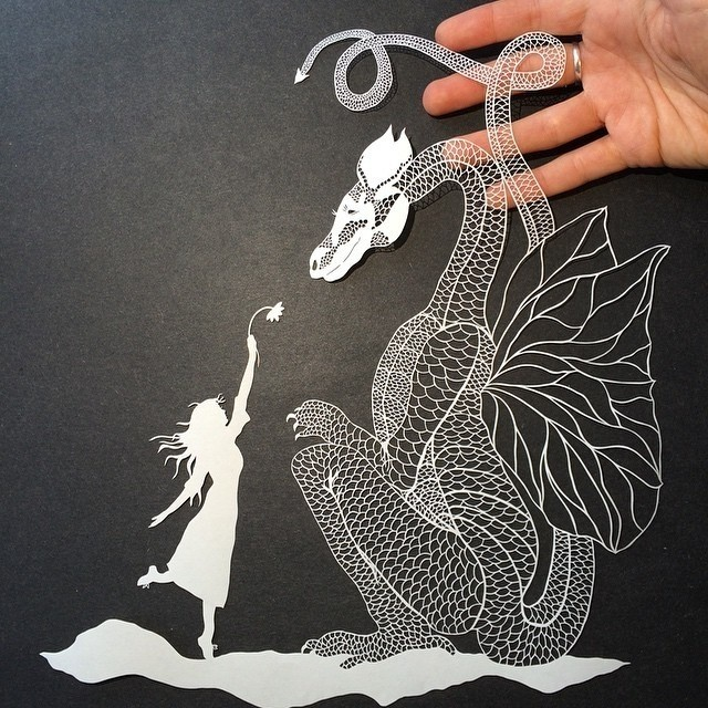 Artist Maude White Creates Intricate Scenes by Snipping Away at Paper