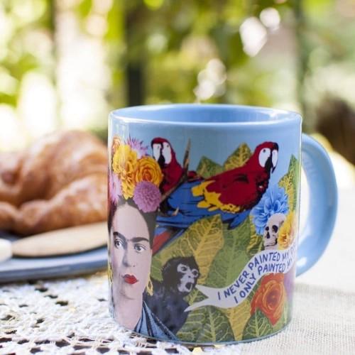 Esta colorida taza de Frida Kahlo te inspirará a crear todos los días