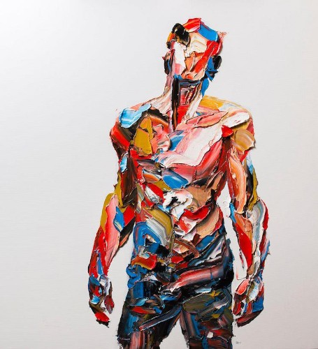 Artist Masterfully Maneuvers a Palette Knife to Sculpt Dynamic Paintings