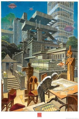 Illustrators Are Celebrating Frank Lloyd Wright's Timeless Architecture