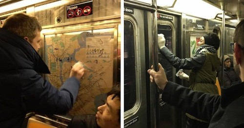 New Yorkers Band Together to Remove Swastikas Scribbled on Subway Car