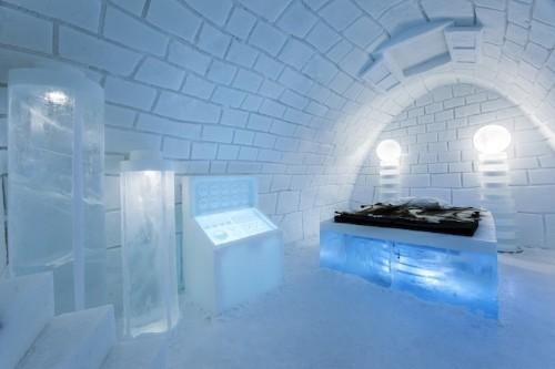 This Year's Ice Hotel in Sweden Recreates Frankenstein's Lab
