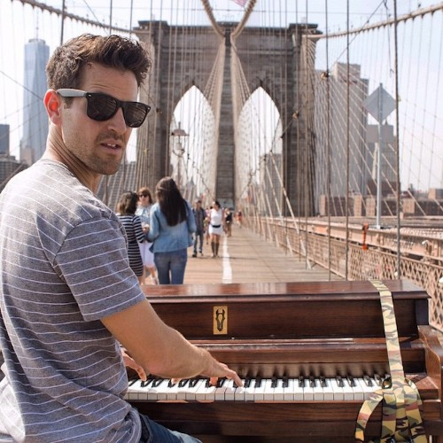 Man Quits Job to Travel the World While Playing Piano on the Street