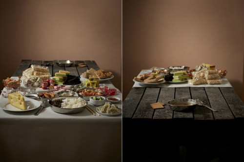 Eye-Opening Photos Contrast the Meals of the Powerful and the Hungry Throughout History