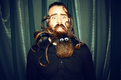 Mr. Incredibeard Continues to Impress with Bizarre Facial Hair Designs