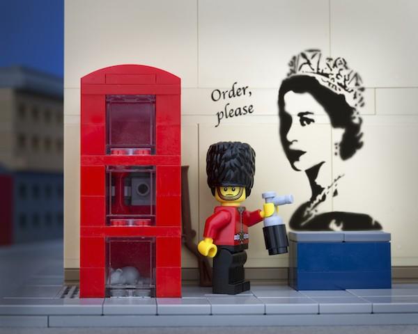 New in My Modern Shop: Jeff Friesen's Banksy LEGOs