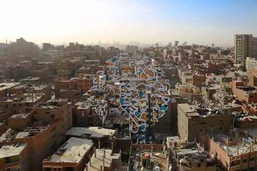 Discover the Incredible Story of One Man's Mission to Paint a Massive Mural in Cairo