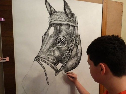 15-Year-Old Artist Creates Incredible Animal Drawings From Memory
