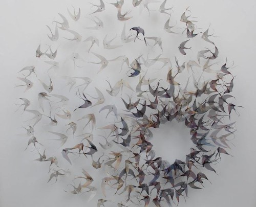Ethereal Nature-Inspired Art Made with Industrial Strength Metals