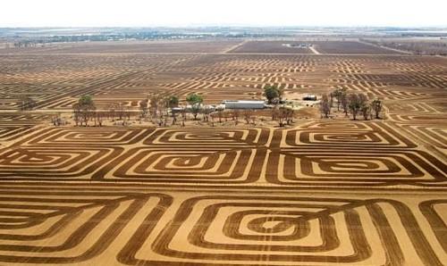 Australian Farmer Combats Soil Erosion By Plowing Land into Giant Geometric Artwork
