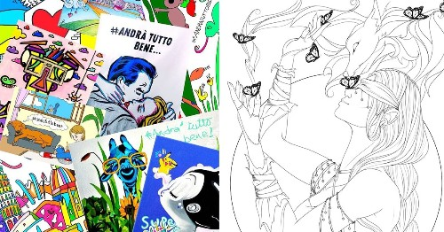 Artists Are Sharing Free Coloring Pages to Help People De-Stress While at Home